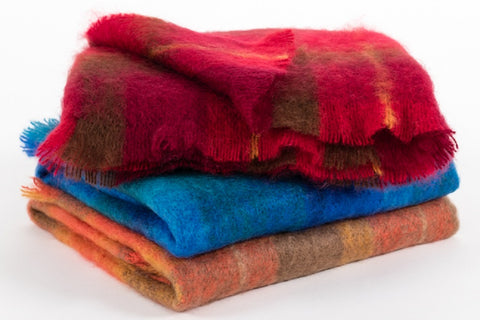Irish Mohair and Wool Throws