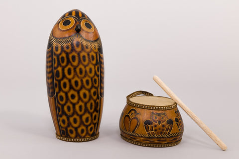 Mother-Owl Shaker and Nest Drum