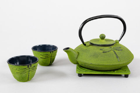 Dragonfly Cast Iron Teapot Set