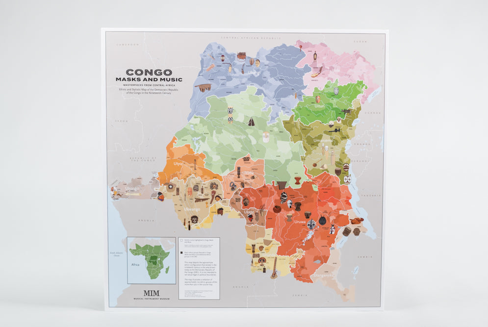 Congo Masks and Music Map
