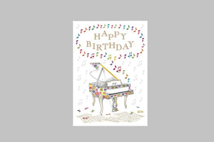 Happy Birthday Piano Card