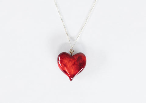 Burlwood Heart Necklace