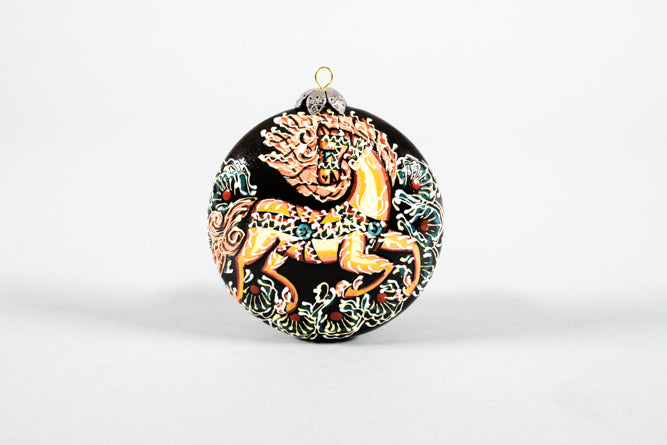 Round Horse Ornament from Uzbekistan