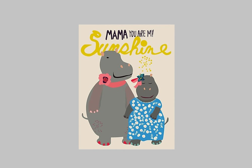 Mama You Are My Sunshine Card