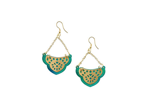 Teal Sea Treasure Earrings