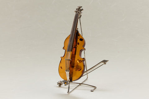 Amber Cello Pin