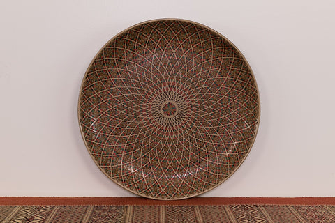 Geometric Flower Plate from Myanmar