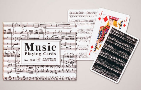 Musical Score Double Card Deck