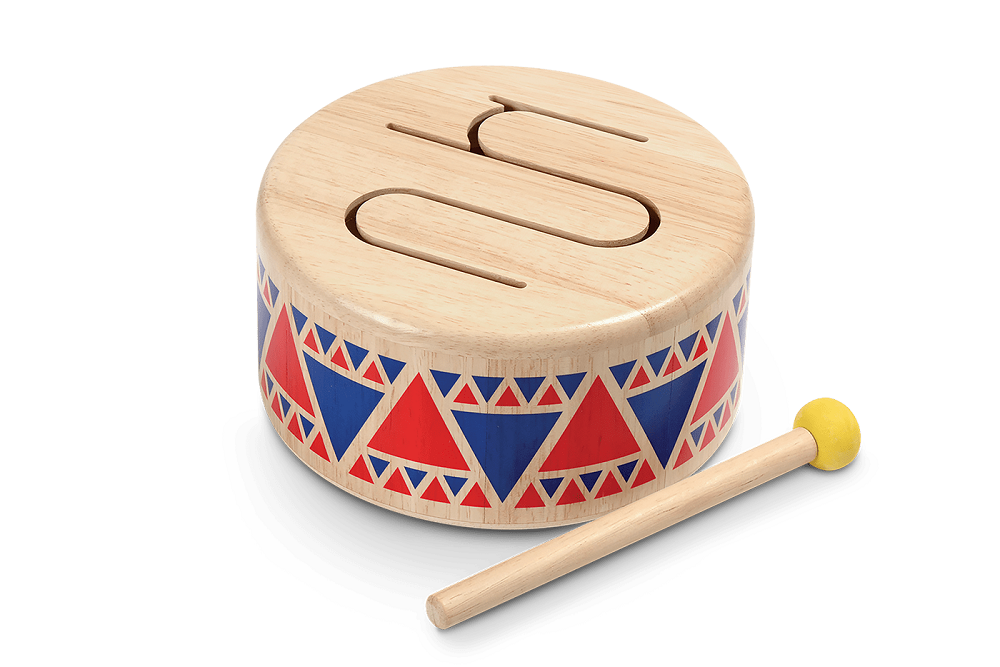 Plan Toy Solid Wood Drum