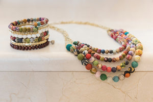 Kantha Necklace or Bracelet