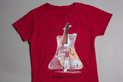 Recycled Orchestra T-Shirt, Red