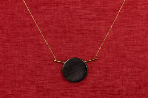 Horn and Brass Necklace