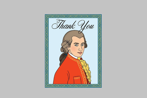 Mozart Thank You Card