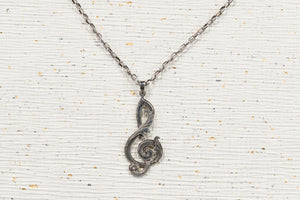 Sterling Silver Treble-Clef Necklace