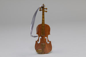 Wooden Violin Ornament