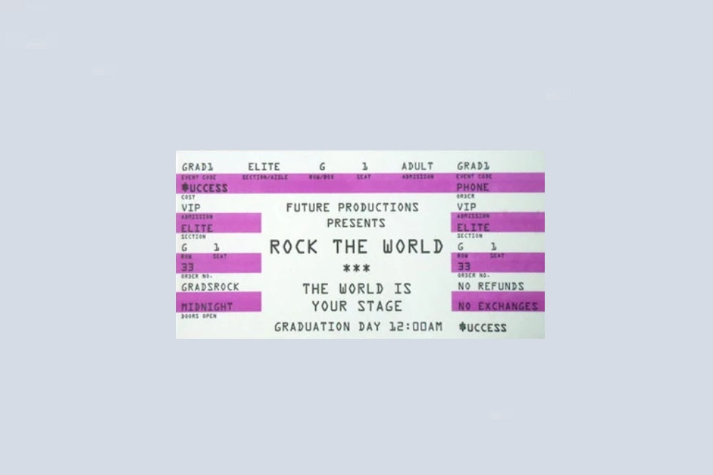 Rock the World Ticket Card