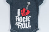Vintage-Black Rock and Roll Onesie