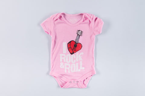 Pink Rock and Roll Onesie