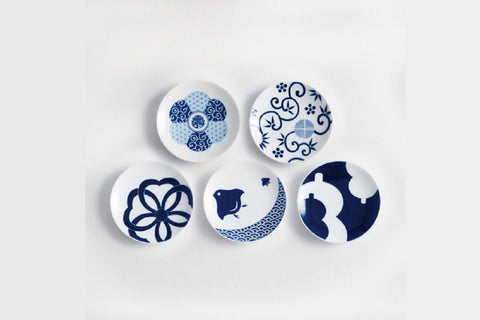 Japanese Porcelain Lucky Charm Plate Set