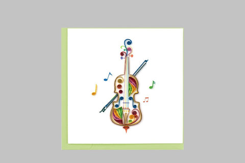 Quilled Cello Card