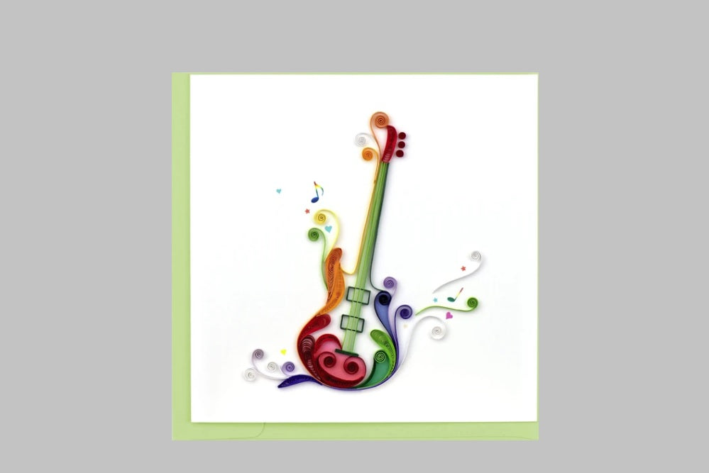 Quilled Electric Guitar Card