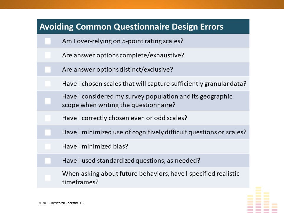 Questionnaire Design Success: A 10-Point Checklist