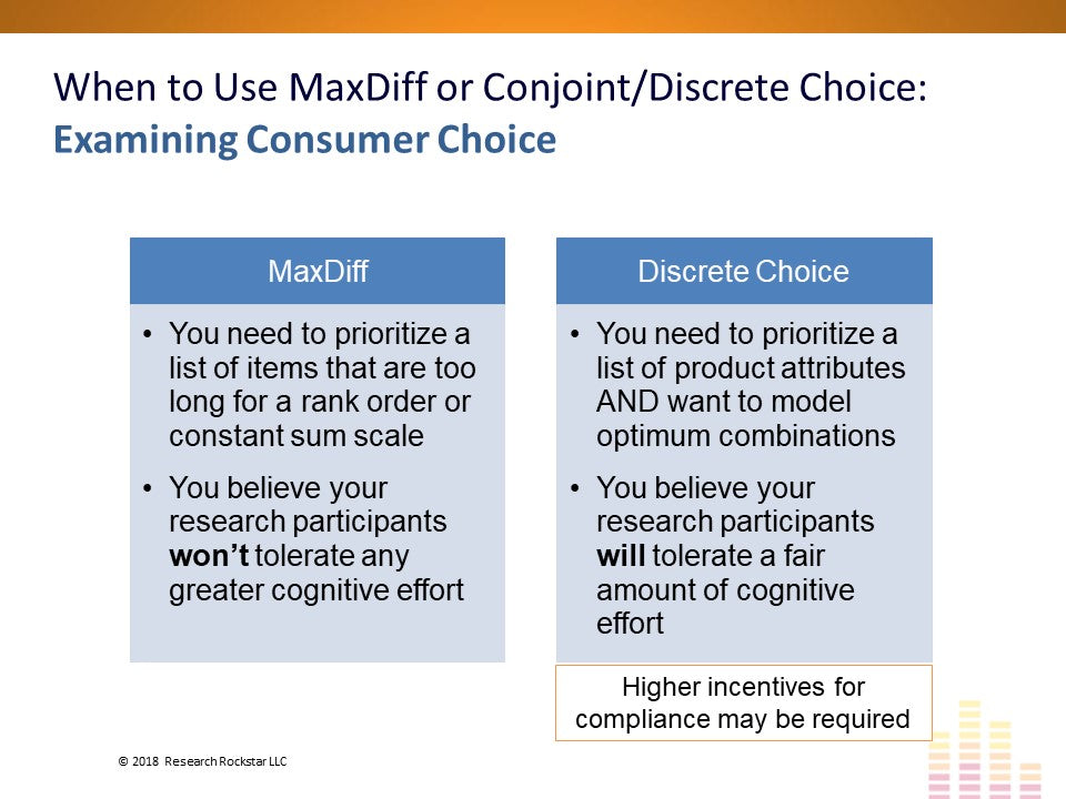 Conjoint, Discrete Choice & MaxDiff: An Introduction