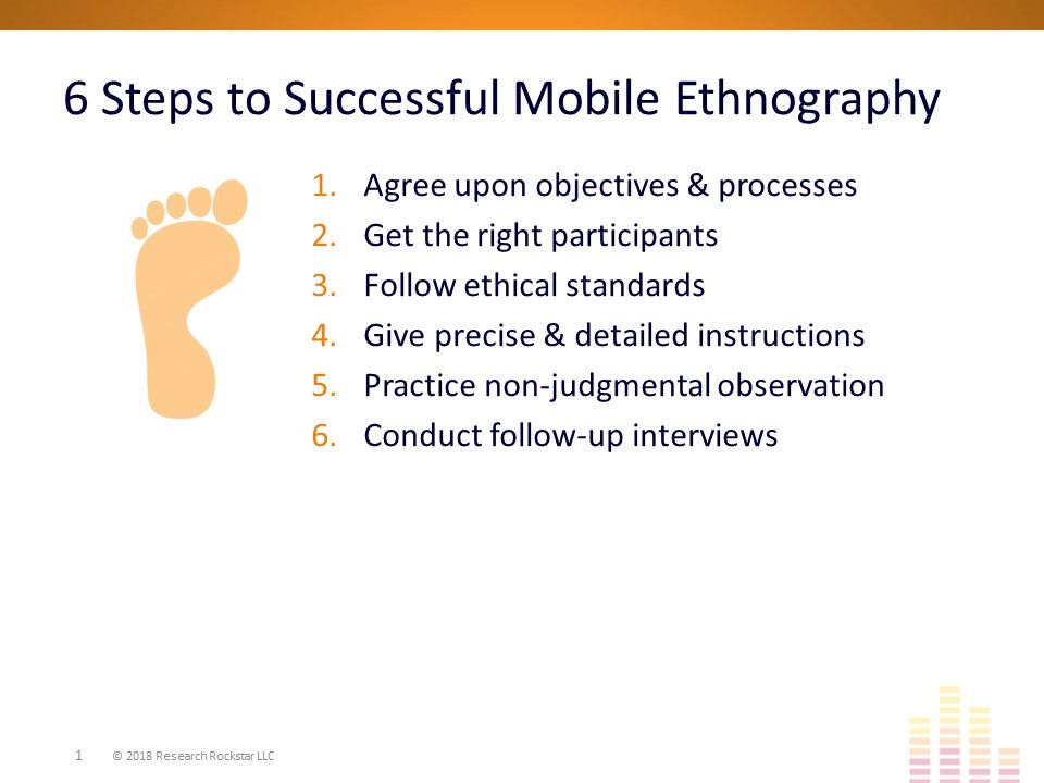 Mobile Ethnography: Text & Video Methods