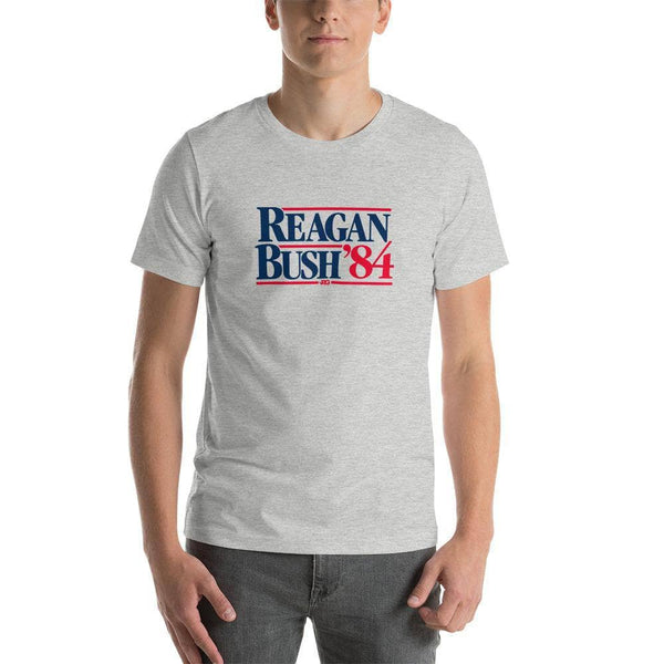 Printful T-Shirt Reagan Bush '84 - Heather Gray