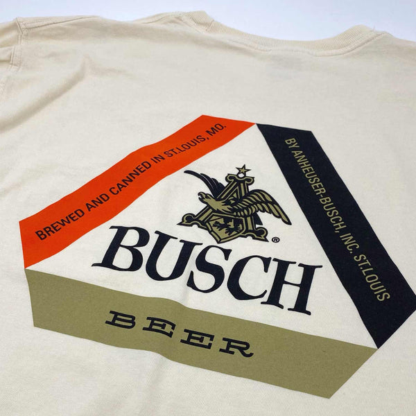 RiverCity Sportswear Short Sleeve Pocket Tee Busch Tab Top Retro Logo T-Shirt