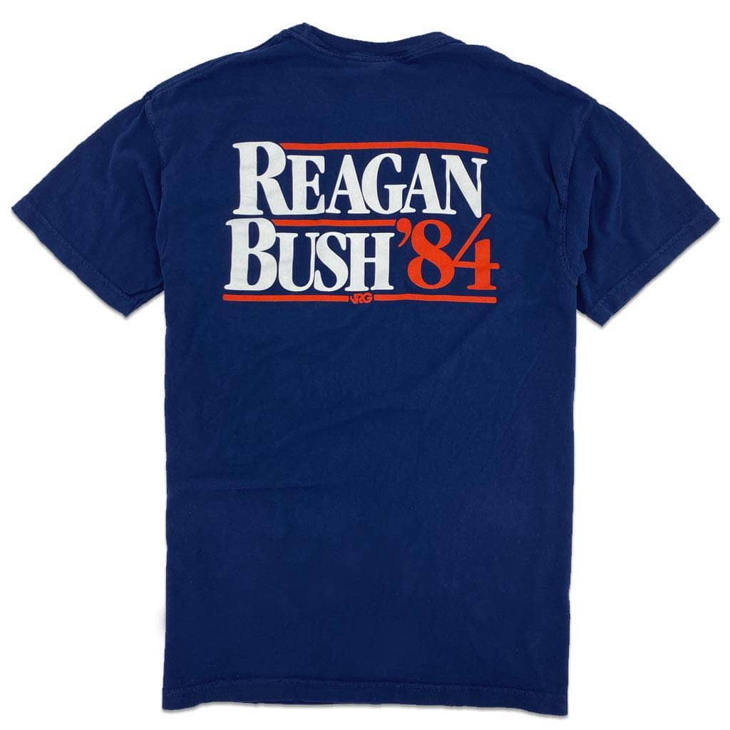 RiverCity Sportswear Short Sleeve Pocket Tee S / Navy Reagan Bush '84