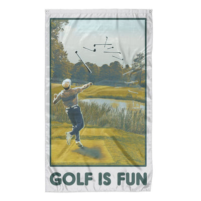 Rowdy Gentleman 3' x 5' Flag Flag Golf is Fun