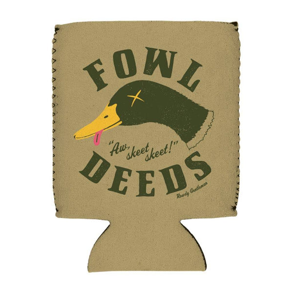 Rowdy Gentleman Beer Sleeve Fowl Deeds