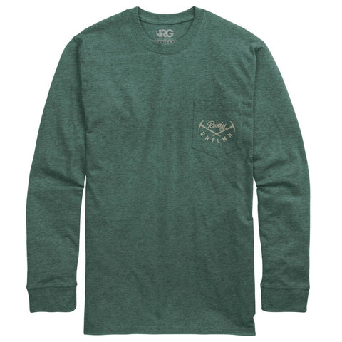 Rowdy Gentleman Long Sleeve Pocket Tee Blaze Trails