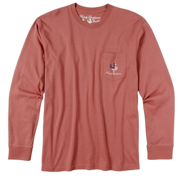 Rowdy Gentleman Long Sleeve Pocket Tee DO NOT PUBLISH Reagan Bush '84
