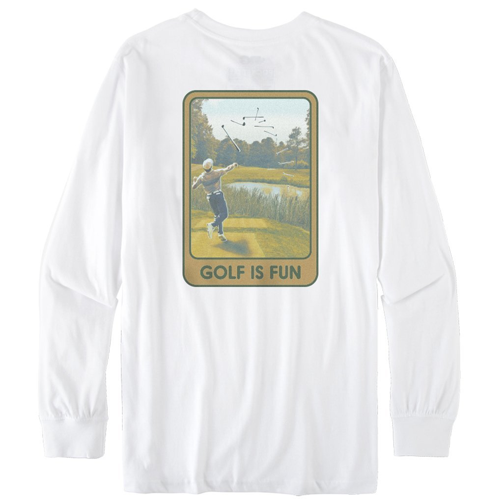 Rowdy Gentleman Long Sleeve Pocket Tee Golf is Fun