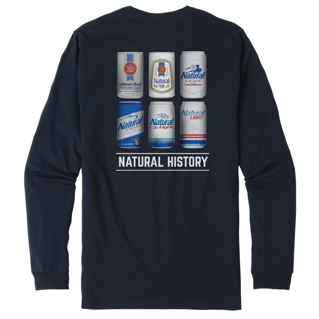 Rowdy Gentleman Long Sleeve Pocket Tee Natural History