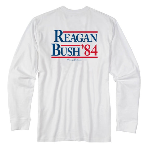 Rowdy Gentleman Long Sleeve Pocket Tee Reagan Bush '84