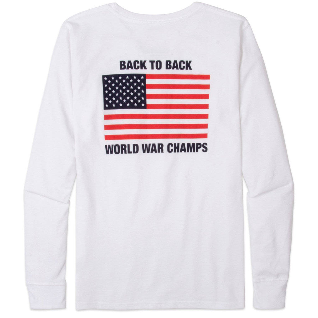 Rowdy Gentleman Long Sleeve Pocket Tee White / Small World War Champs