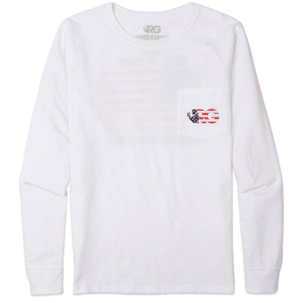 Rowdy Gentleman Long Sleeve Pocket Tee World War Champs