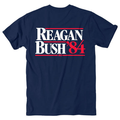 Rowdy Gentleman Short Sleeve Pocket Tee Navy / Small Reagan Bush '84