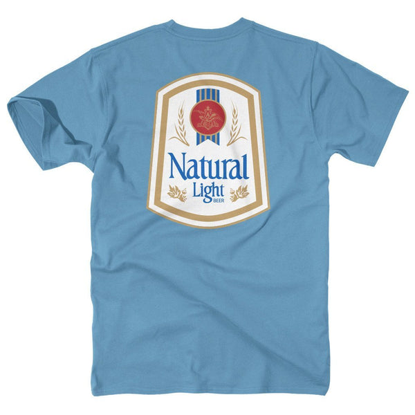 Rowdy Gentleman Short Sleeve Pocket Tee Niagara / Small Natty Light Vintage Logo