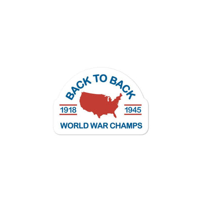 Rowdy Gentleman Stickers World War Champs