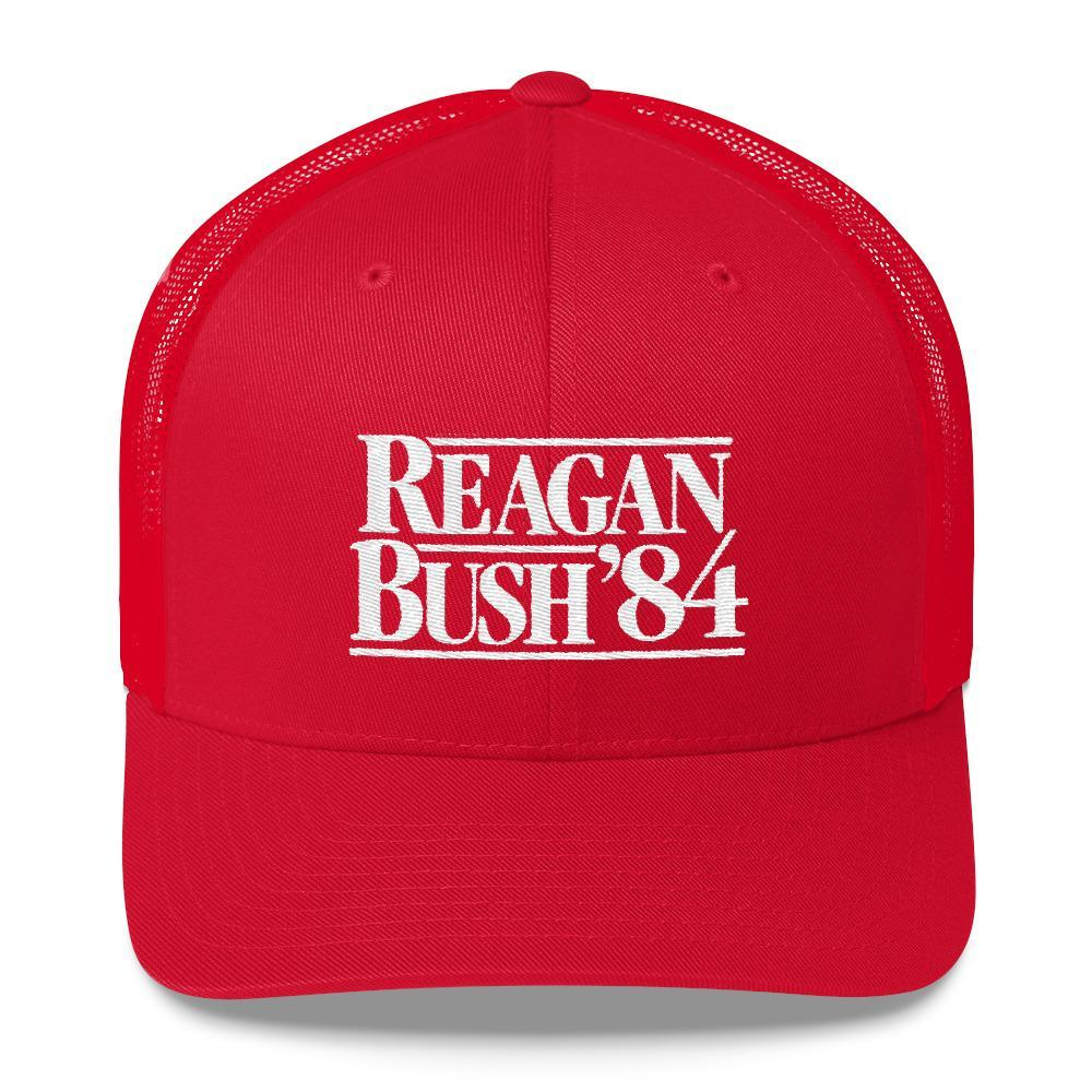 Rowdy Gentleman Trucker Hat Reagan Bush '84