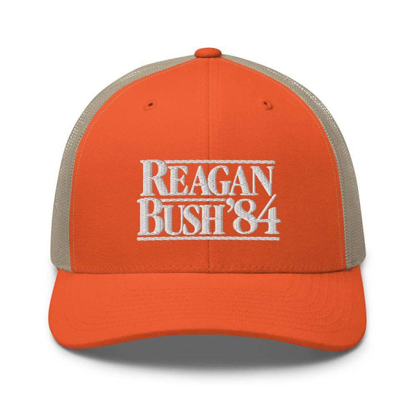 Rowdy Gentleman Trucker Hat Reagan Bush '84 - Hunter Orange