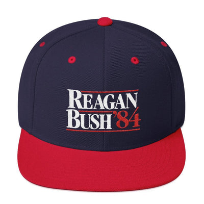 Rowdy Gentleman Wool Blend Snapback Reagan Bush '84