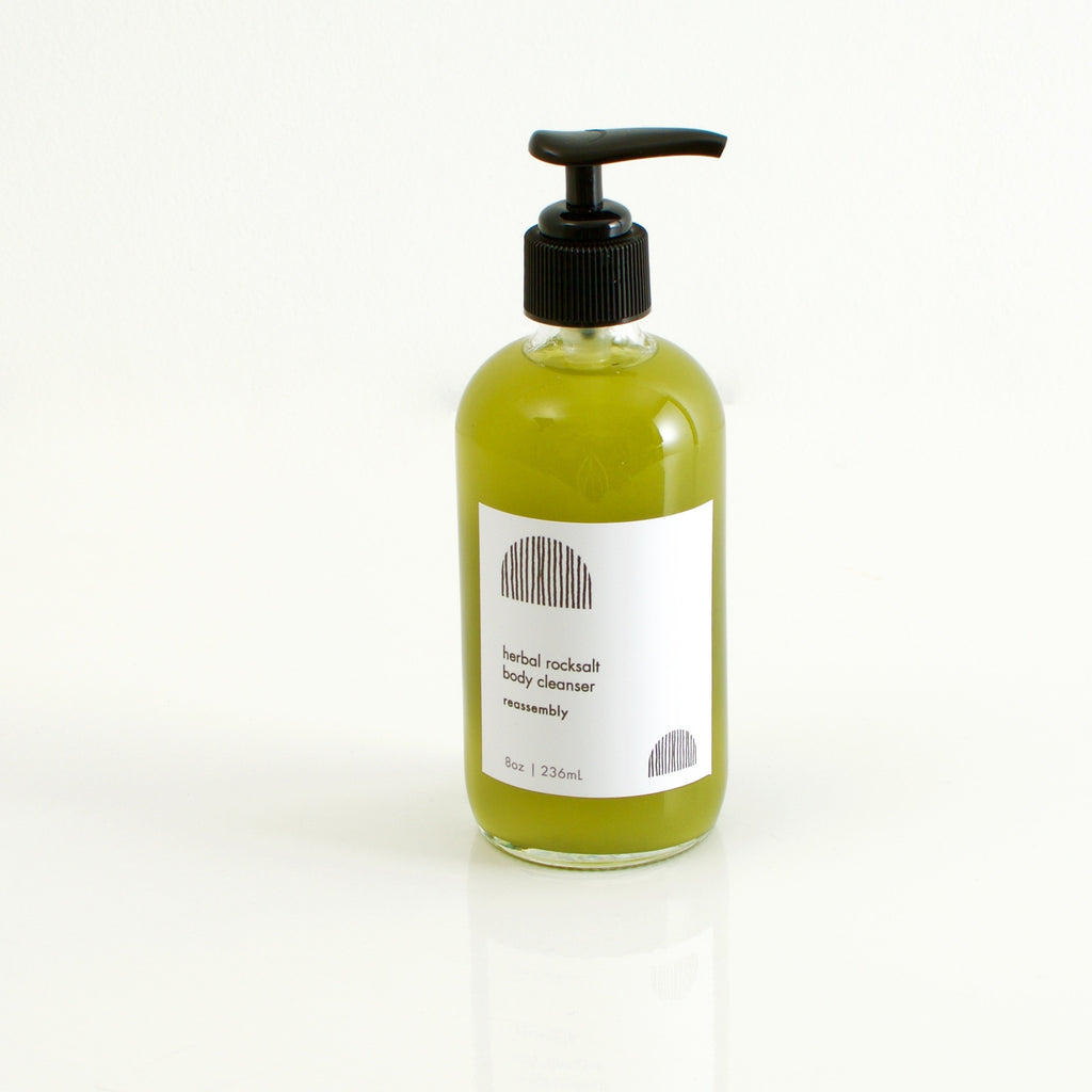 herbal rock salt body cleanser
