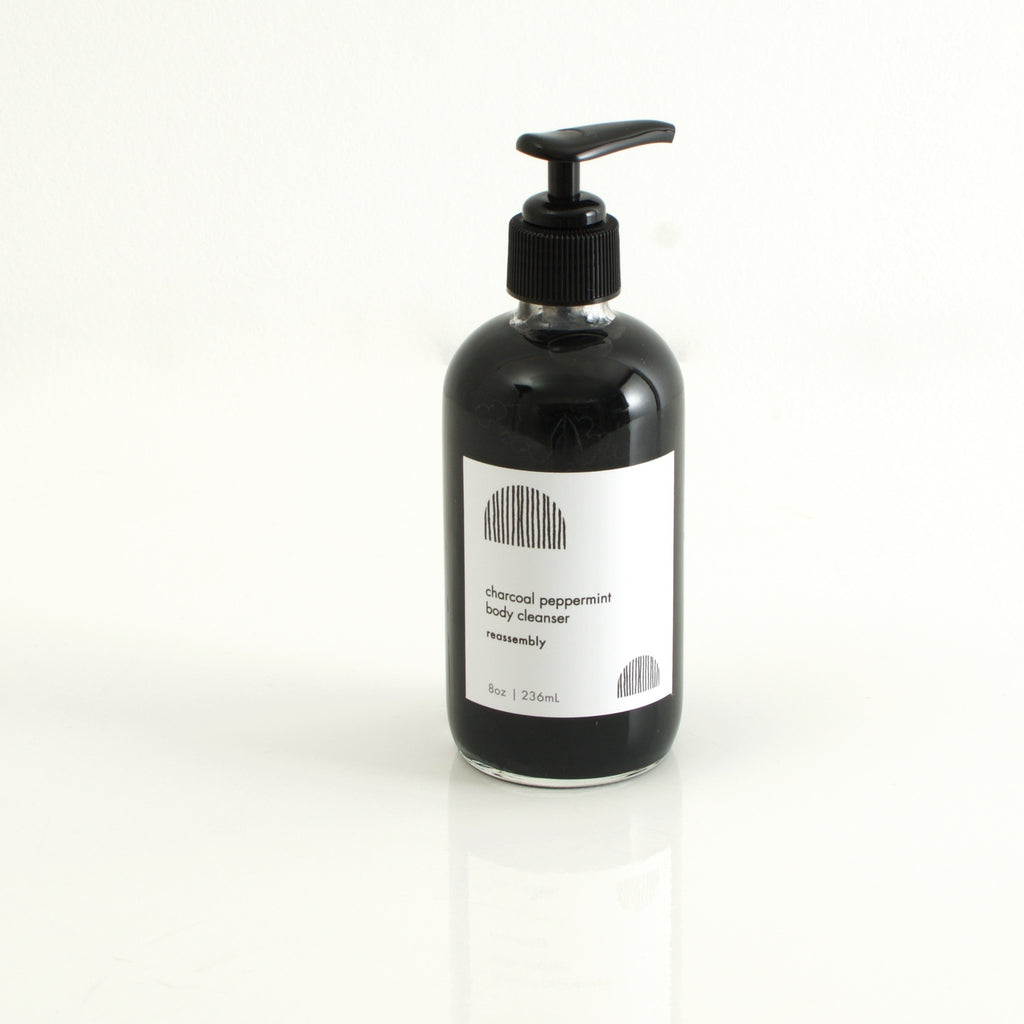 charcoal/peppermint body cleanser
