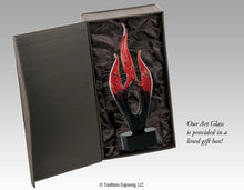 Load image into Gallery viewer, Art Glass - Red and Black Flame