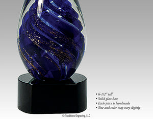 Art Glass - Blue Tear Drop